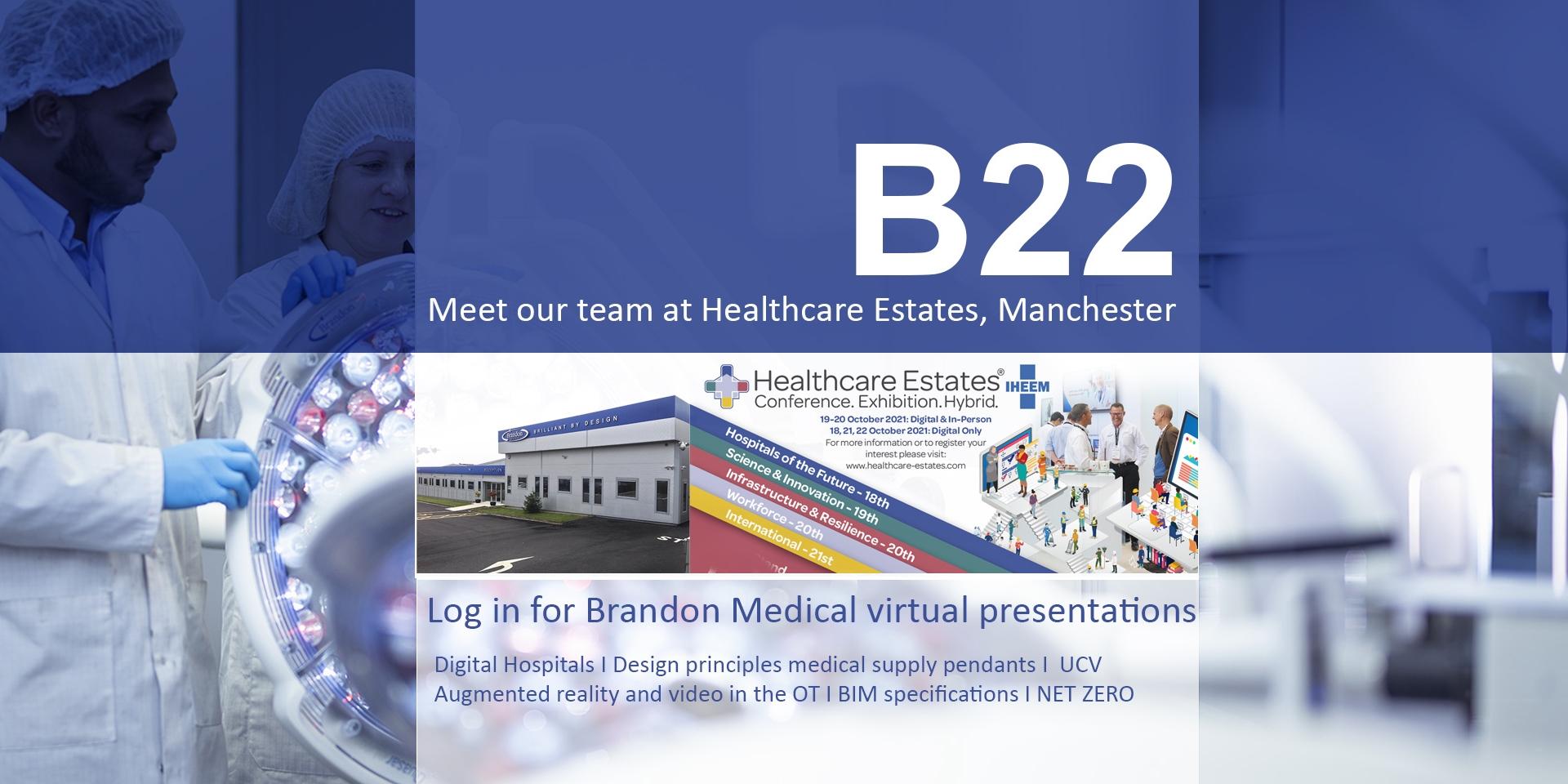2 BRANDON MEDICAL Hhealthcare estates conference exhibition hybrid 2021