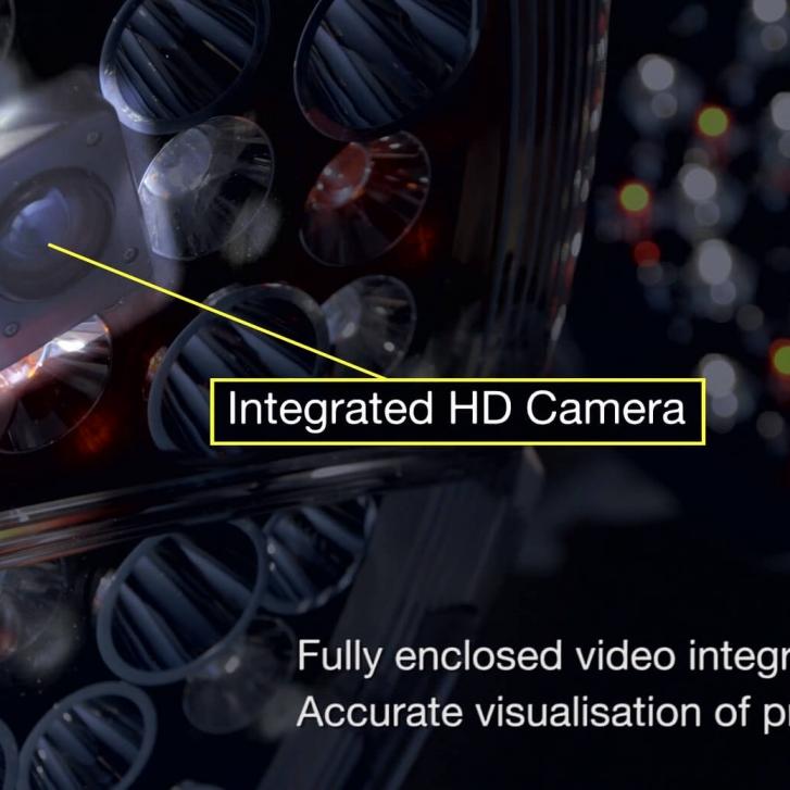 Brandon Medical Quasar eLIte operating light with HD camera inside