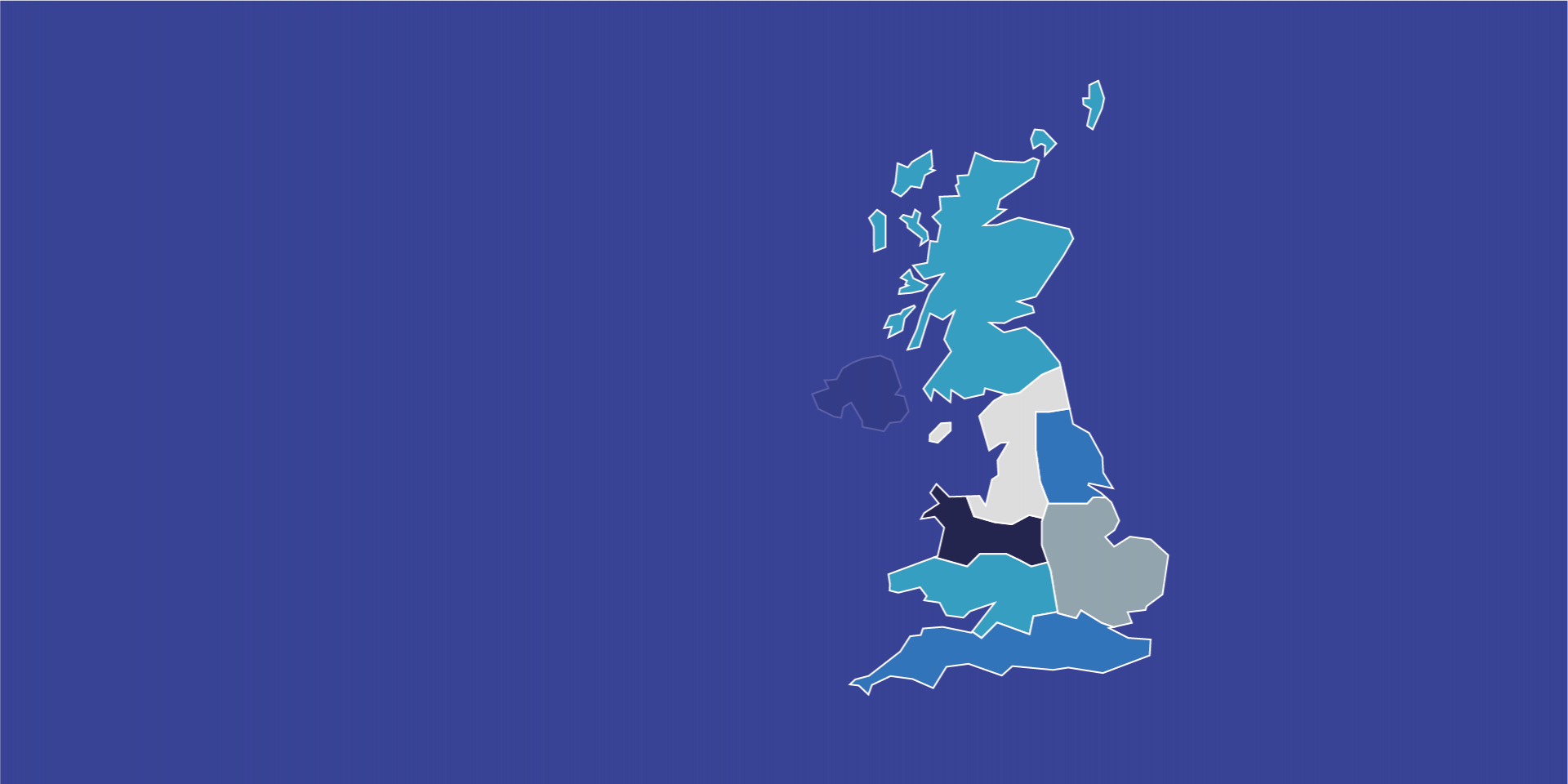 UK Region Sales Map